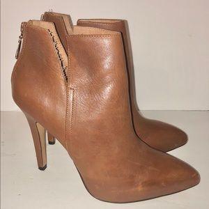 Corso Como Camel Colored Leather High heel Bootie